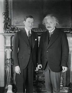 "1930:  Physicist Albert Einstein honored at City Hall by NYC Mayor Jimmy Walker, and Columbia University President Nicholas Murray Butler, who dubs him the ""ruling monarch of the mind.""  Lot of good that did for Columbia; Princeton got Einstein."