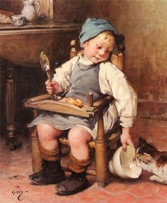Henry Jules Jean Geoffroy - Sharing A Meal