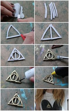 C by you: DIY - Deathly Hallows Fimo Necklace