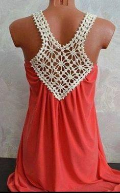 Fabulous Crochet a Little Black Crochet Dress Ideas. Georgeous Crochet a Little Black Crochet Dress Ideas. Col Crochet, Crochet Fabric, Crochet Shirt, Crochet Collar, Crochet Woman, Crochet Fashion, Diy Fashion, Dress Fashion, Fashion Ideas