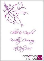 Wedding M Booklet Template Pinterest Ceremony And Templates