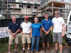 Great pic of EcoSound, Green Cocoon, Minute Men Painters collaboration on green home renovation in Portsmouth's Strawberry Banke neighborhood!