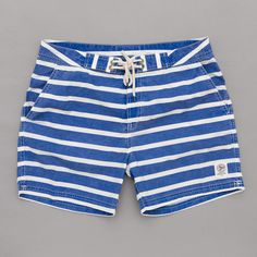 Polo Ralph Lauren Stripe Swimshort (Royal / White) | Oi Polloi
