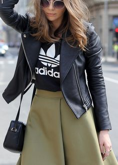 Fashion and style: Black leather