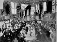 Social gathering at the German Club, Brisbane ca. John Oxley Library, State Library of Queensland. Australian People, Australian Flags, Ancestry, Brisbane, Old Photos, Past, German, Club, History