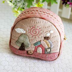 手工布藝diy材料包 先染拼布材料包 溫馨小家收納包 化妝包特價