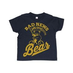 Jolly Bad News Bear- toddler-youth navy blue tee
