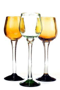 Copas de Vino en vidrio soplado.