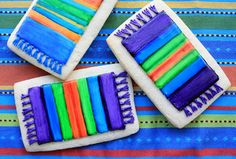 Munchkin Munchies: Mexican Blanket Cookies for Cinco de Mayo Mexican Cookies, Biscuits, Mexican Babies, Fiesta Party, Quick Easy Meals, Decoration, Kids Meals, Mexican Food Recipes, Fun Food