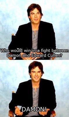 Damon Salvatore -  The Vampire Diaries hahah I love him (: