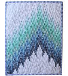 Firelights Lane Ombré mini quilt.  Pattern by Sassafras Lane Designs, fabric by Dear Stella Design