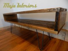 TV Unit /TV  Stand Industrial Rustic Reclaimed Wood Hairpin Legs by MujuFurnitureUK on Etsy https://www.etsy.com/uk/listing/485522947/tv-unit-tv-stand-industrial-rustic