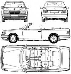 Mercedes Benz W 124 Cabrio Blueprint