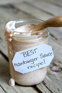 Sharing the Best Burger Sauce Recipe - a special sauce for your hamburgers to make your barbecue extra awesome. Recipe from The Recipe Girl Cookbook. This burger sauce is the absolute best addition to your grilled hamburgers! Best Hamburger Sauce Recipe, Good Burger Sauce Recipe, Best Burger Sauce, Burger Sauces Recipe, Burger Recipes, Sauce Recipes, Cooking Recipes, Shrimp Recipes, Pasta Recipes