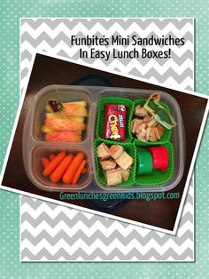 Funbite's Mini Sandwiches in Easy Lunch Boxes!