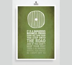 Gandalf Quote Frodo Lord of the Rings Typography Movie by POSTERED, $15.00