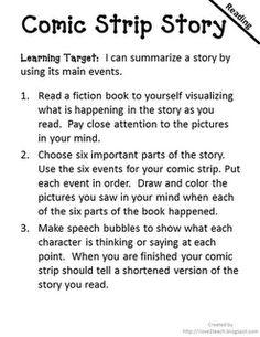 Comic Strip Creator  I Love 2 Teach: Literacy Centers {free printable}