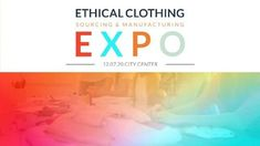 Colorful clothing fashion gradient ethical clothing sourcing and manufacturing expo video template