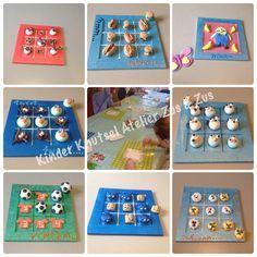 Boter Kaas en Eieren spel zelf gekleid met Silk Clay tijdens het Kinder Knutsel Atelier