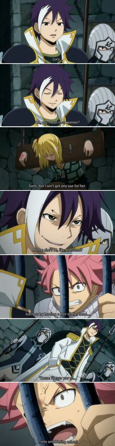I really whish I just had one at least on cute guy that cares about me like natsu cares about Lucy