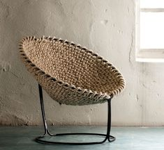 Basket chair - Home Professional Decoration Chair Design, Furniture Design, Rattan Furniture, Deco Nature, Round Chair, Take A Seat, Cool Chairs, Room Themes, Sofa Chair