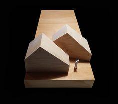cabañas na carballeira, outedaytaboas architects, wood, architecture model, maqueta, madera, design, little spaces
