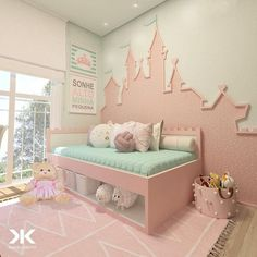 65 beautiful baby girl nursery room ideas 18 Design And Decoration Baby Bedroom, Baby Room Decor, Nursery Room, Girls Bedroom, Girl Nursery, Bedrooms, Kids Bedroom Designs, Kids Room Design, Little Girl Rooms