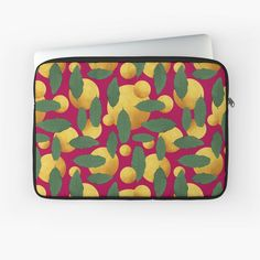'Leaves and golden orb abstract' Laptop Sleeve by Amanda D-Hay Iphone Wallet, Laptop Sleeves, Amanda, My Arts, Leaves, Art Prints, Abstract, Printed, Awesome