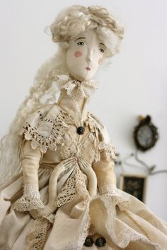 Art Doll Fairy Tale Doll 'The Ghost of Jane Eyre' OOAK textile art doll soft by pantovola