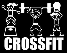 Crossfit Girls Stick Figures Decal by Mpressvinyl on Etsy, $7.99