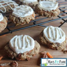 Chewy Carrot Cake Cookies with Cream Cheese Frosting