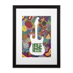 """""""Make some noise (music)"""" #framed #art #print by #Beatrizxe 