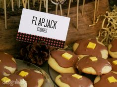 Pancake Cookies for a Lumberjack themed birthday party