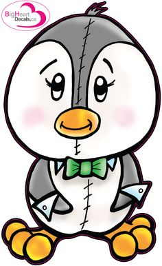 Playful Penguin 1 from Big Heart Decals Inc. Made in Canada. Fabric stickers or wall decals for nursery or kids playrooms. Sticks on walls, windows and flat surfaces.  Movable, removable, no residue.  Price: $18.00 - 7.7 x 12 inches