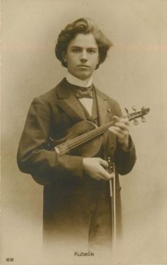 Kubelik, Jan (5 July 1880-5 December 1940) Circa 1910 real photo of Jan Kubelik, born in Michle, now part of Praque, was a famous Czech violinist and composer.