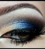 Image result for black and blue eyeshadow