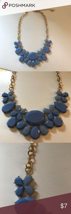 Nordstrom Blue Statement Necklace Periwinkle jems, gold chains, statement necklace Nordstrom Jewelry Necklaces