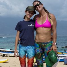 Andrea Moller rocking Makena  surf wear Wonderlust sup-yoga legging at the butterfly effect Maui!!! www.makenasurfwear.com