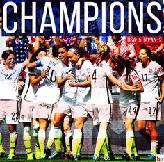 U.S. WOMENS SOCCER TEAM WORLD CUP CHAMPIONS ⚽️