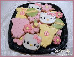 Hello Kitty Baby Shower Cookies