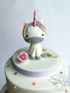 Unicorn Pretty Cakes, Cute Cakes, Beautiful Cakes, Amazing Cakes, Unicorn Cupcakes, Unicorn Party, Little Pony Cake, Birthday Cake Girls, Love Cake