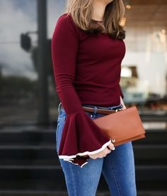 My Style Snapshot: Shinola Accordion Clutch with Bell-Sleeves