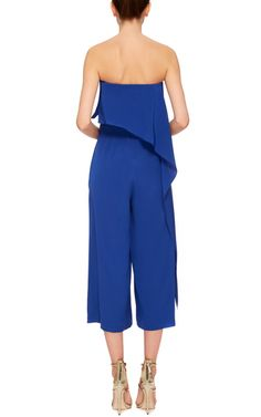 Silk Crepe De Chine Drape Front Jumpsuit by TIBI Now Available on Moda Operandi