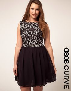 What a cute dress for a party.  In sizes 16+