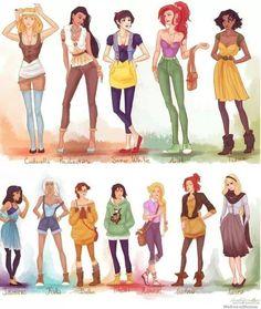 Modern Disney Princess outfits