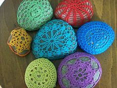 Crochet Stones from HoneycombHome.blogspot