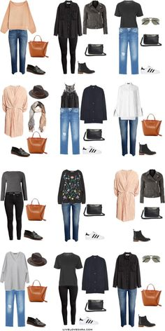 What to Wear on a European Vacation in Paris, Italy, Greece Outfit Options 1-12 Packing Light List #packinglist #packinglight #travellight #travel #livelovesara