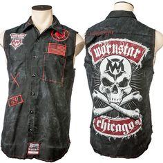 Custom Destroyed Skull Sleeveless Work Shirt WSCV-373