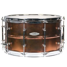 C&C 8x14 Copper Over Brass Beaded Shell 10-Lug Snare Drum