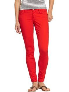 I think i want these...but boots not flats! Cant do that super small ankle thing. Old Navy | Women's The Rockstar Super Skinny Jeans